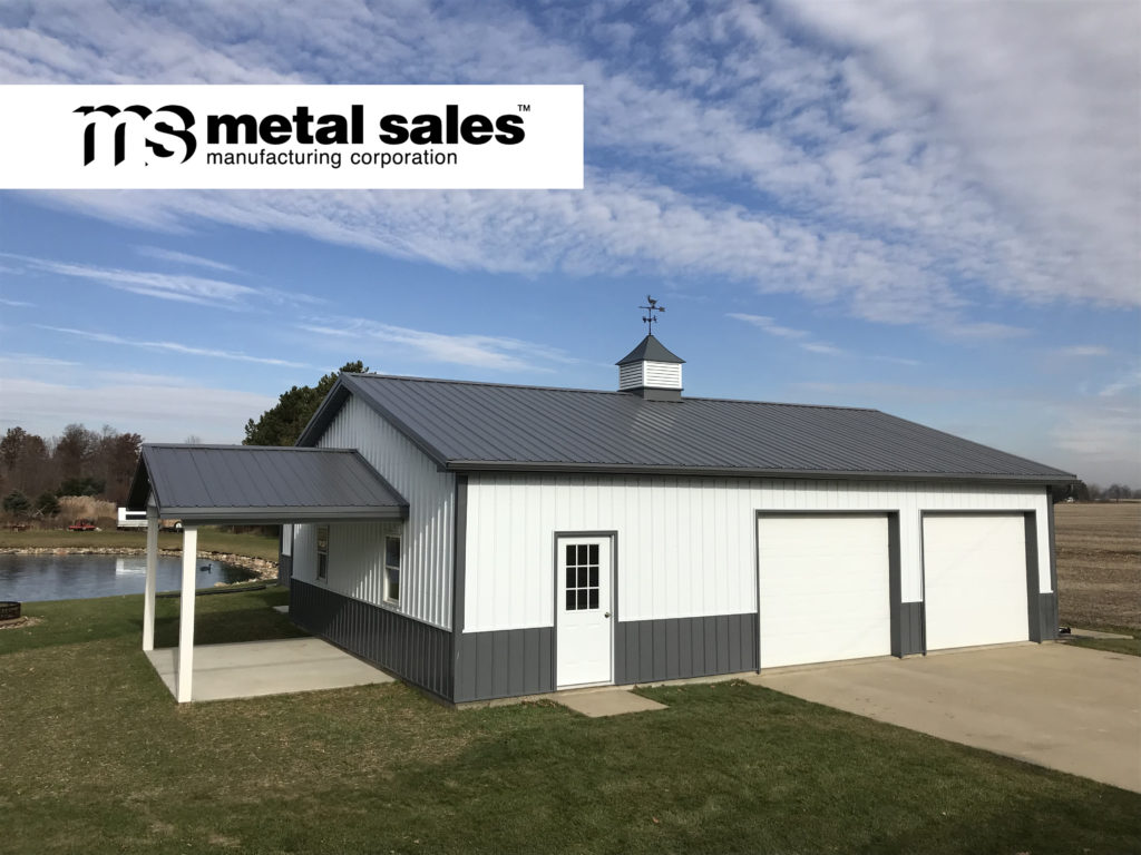 Metal buliding with Metal Sales roofing and siding